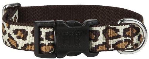 Harry Barker Leopard Collar - Natural - Large - 16-26 inch