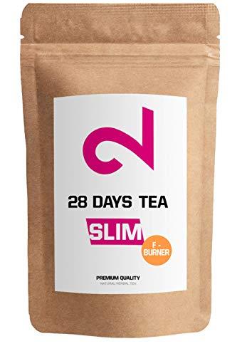 🥇 DUAL 28 Days Fat-Burner Tea| Té Quemador de Grasa para Pérdida de Peso | Té desintoxicante | Infusión de Dieta y Para Bajar de Peso|Té Limpiador|Suplemento Dietético Natural|Hecho en Alemania|85g