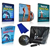 24Seven Wellness & Living Back Pain Relief Kit 6 Premium Products That Relieve Lower, Upper, Neck and Sciatic Pain Naturally Includes 3 DVD's, Fitness Ball, Resistance Band and E:Book