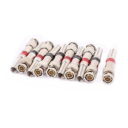 DealMux 10 Pcs BNC Q9 Connector Adaptadores de núcleo de cobre resistente à alta temperatura