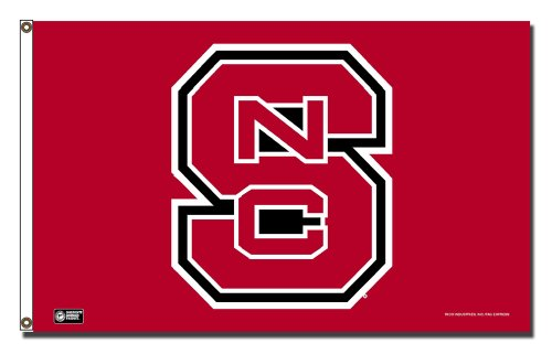 Rico Industries NCAA North Carolina State Wolfpack 3-Foot by 5-Foot Single Sided Banner Flag with Grommets