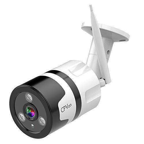 CPVAN Outdoor Security Camera 1080P WiFi Camera with 2 Way Audio Waterproof IP66 Security Camera Wireless, Night Vision Camera Surveillance Cameras Outdoor, Cloud Storage