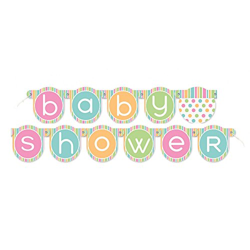 4 3ft Pastel Shower Letter Banner product image