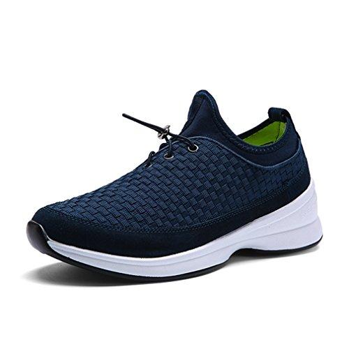 de tennis running sport tresse 44 compensé chaussure mode légère confort sneakers trial badminton bleu foncé basket course voyage 39 jogging Homme 1I75nxSqwS