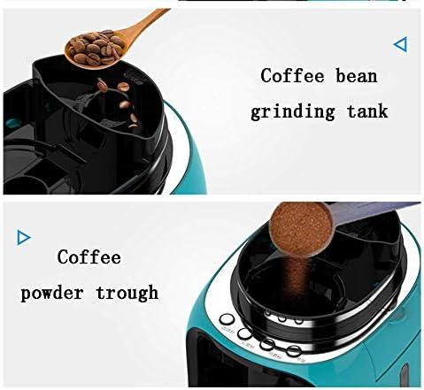 Qinmo Iced Machine à café, Machine à café Top Pots, Lait Machine à café Machine entièrement Automatique de café avec Moulin et Un Petit café fraîchement Sol américain