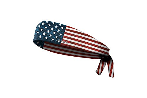JUNK Brands Pro Sport Honor Americana Collection Flex Tie Headband, Red/White/Blue ()