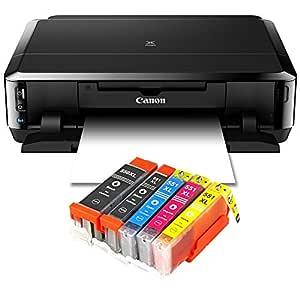 Impresora de inyección de tinta con WiFi, impresora fotográfica y CD de doble cara Canon PIXMA iP7250, impresión auto duplex (9600 X 2400 DPI, USB) + ...