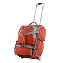 Olympia Casual Sports Rolling Upright Carry On Duffel, Sienna, One Size