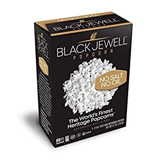 Black Jewell No Salt No Oil Microwave Popcorn (8.7 Ounces) (Pack of 6 Boxes)