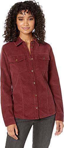 (Roxy Junior's The Edge of Wildness Corduroy Shirt Jacket, Oxblood red, S)