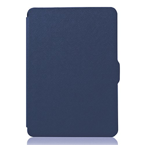 OMOTON Kindle Paperwhite Case Cover - PU Leather Smart Cover for All-New Kindle Paperwhite (Fits All versions: 2012, 2013, 2014, 2015 and 2016 All-new 300 PPI Version), Navy Blue