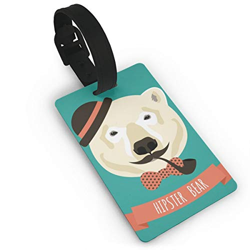 GKEEHR Luggage Tag Hipster Bear Label Cruise Instrument Bag Case Tags ()