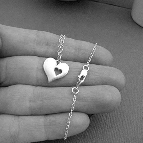 Memorial Necklace /• Sympathy Gifts for Women /• Sterling Silver /• Loss of Husband Parent Baby /• Miscarry Miscarriage Grief /• Remembrance Jewelry /• Mom Dad Grandmother /• I Carry Your Heart Charm