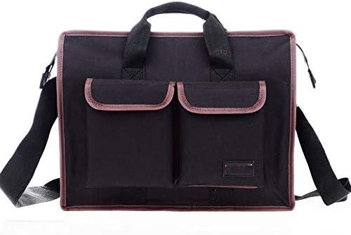 道具袋 ハンドツールを運ぶための専門のパワーツールのショルダーバッグ、多機能オックスフォード布防水ツールバッグオーガナイザーに最適 ツール収納袋 (色 : Black, Size : One size)