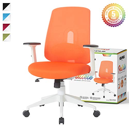 NOUHAUS Palette Ergonomic Office Chair Comfortable Swivel Computer Desk Chair, Lumbar Adjust Rolling Chair. (Bright…