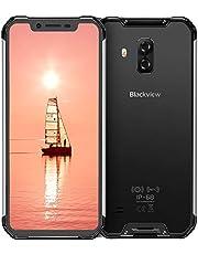 Blackview BV9600 Outdoor Smartphone ohne Vertrag 6,2 Zoll AMOLED Display, Helio P70 Android 9.0 Handy IP68 Wasserdicht, 16MP+8MP Kamera 4GB RAM+64GB interner Speicher, 5580mAh Akku 4G Globale Version