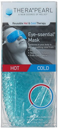 TheraPearl TP-RE1 Reusable Hot & Cold Therapy Eye-ssential Mask, 9 x 2.75-Inch (Spa Eye Mask)