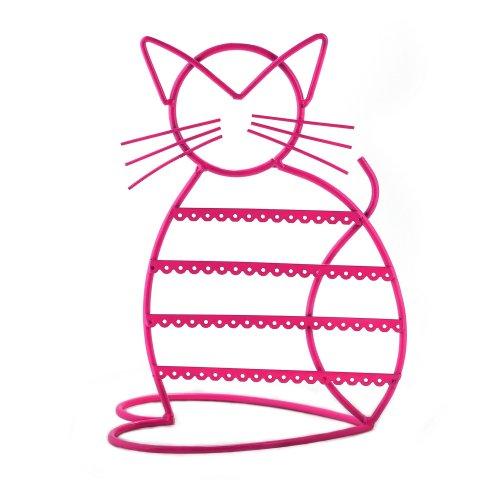 Zoohu Cat Shape Metal Wire Earring Holder / Earring Tree / Earring Oraganizer / Earring Stand / Earring Display ()