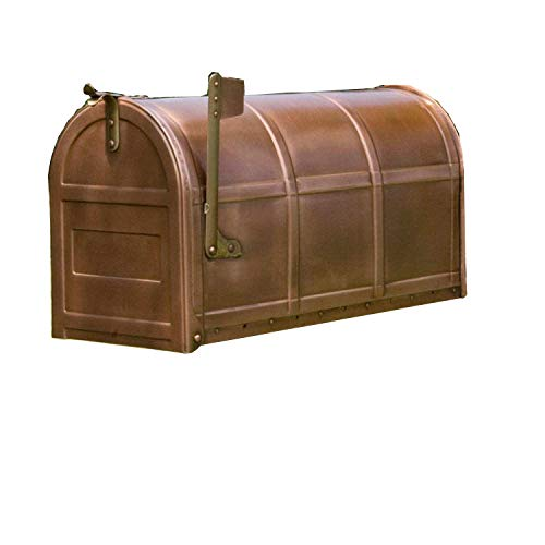 SH Naiture Standard Solid Copper Post Mount Mailbox
