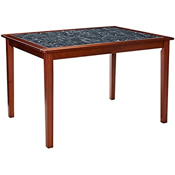 Zinus Faux Marble And Wood Dining Table / Table Only