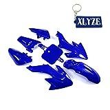 XLYZE Blue- Group Motorctcly Plastic Fender Body Work Fairing Kit For SDG SSR Honda Piranha Chinese CRF50 XR50 50cc 70cc 90cc 110cc 125cc 140cc 150cc 160cc Pit Dirt Bike