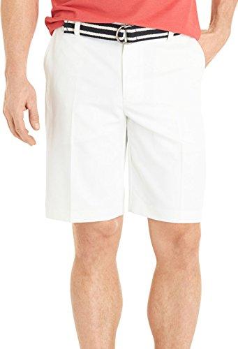 IZOD Mens Microfiber Shorts-34W,WHITE Microfiber Flat Front Shorts