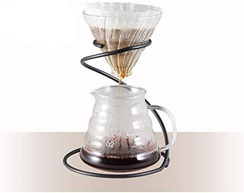 DW007 Kaffee Handschlag Filterbecherhalter Schlangenförmiger Filterbecherhalter Kaffeegerät Handgebrühter Kaffee Outfit Ausstellungsstand 15.5X19x8.5Cm,Schwarz