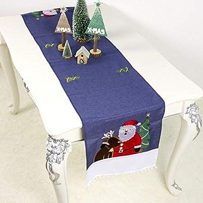Camino de mesa de Navidad Decoración de mesa Copo de nieve Reno de ...