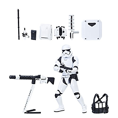 Star Wars The Black Series First Order Stormtrooper with Gear (Amazon Exclusive) (Bandai Star Wars Clone Trooper Model Kit)