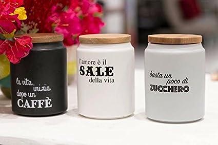 VILLA D\'ESTE TRIS BARATTOLI SALE ZUCCHERO CAFFE\': Amazon.it: Casa e ...