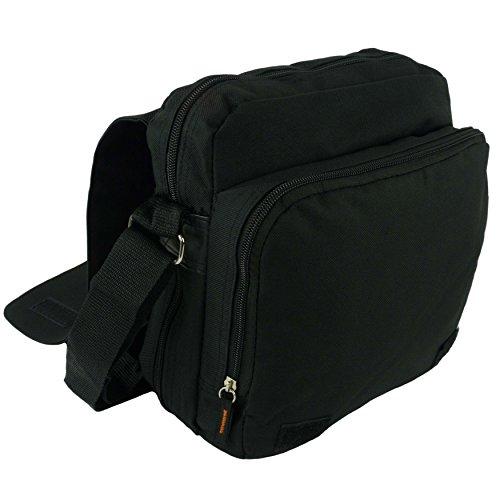 Para hombre Ladies Canvas Messenger Bag hombro/viaje utilitario por Lorenz Cruz Cuerpo negro negro negro