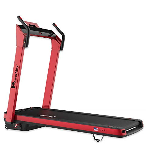 PowerMax Fitness TD-A3 2.5HP (5HP Peak) Pre-installed Motorized Treadmill, Home Use & Automatic Incline