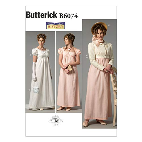 (BUTTERICK PATTERNS B6074 Misses' Dress, Jacket, Purse and Hat Trim Sewing Template, Size E5 (14-16-18-20-22))