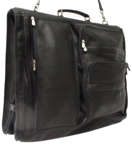 - Piel Leather Executive Expandable Garment Bag, Black, One Size
