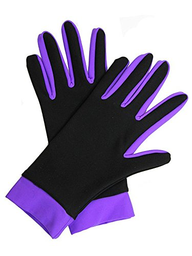 - IceDress Thermal Figure Skating Gloves (Black & Purple), S (16-18)