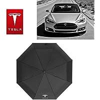 Ephvan Open Large Folding Umbrella Windproof Sunshade with Car Logo (for Tesla)