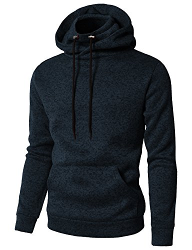 Us Navy Hooded Pullover Sweatshirt (H2H Men's Active Basic Long Sleeve Pullover Anorak Hoodie With Pocket Navy US XL/Asia 2XL (CMOHOL040))