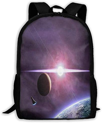 NA Rucksack für Mädchen Jungen und Jungen mit Sternen-Motiv und Reißverschluss