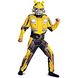 Transformers Bumblebee Movie Classic Bumblebee Muscle Costume For Kids Assorted Small