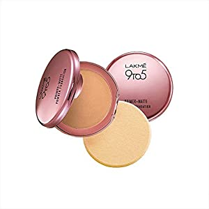 Lakme 9 to 5 Primer with Matte Powder Foundation Compact, Rose Silk, 9g