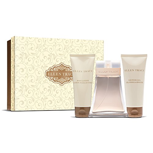 Ellen Tracy Classic 3 Piece Rigid Box Gift Set, Filigree Design (Filigree Perfume)