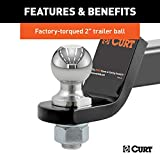 CURT 45036 Trailer Hitch Ball Mount with 2-Inch