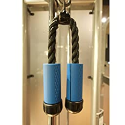 Elemart Thick Bar Grips - Comfortable and Durable Non-slip Silicone Rubber Easily Attachable to Any Bar - For Barbell, Dumbbell & Kettlebell - Perfect for Muscle Growth