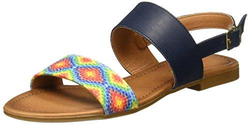 con Multicolor Azul Tobillo Andrea para Correa Marino Sandalias de 2440880 Mujer PwqqgvxHE