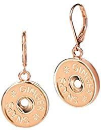Rose (Simulated) Gold Leverback Earrings (Standard Size) SN96-01 Interchangeable Jewelry
