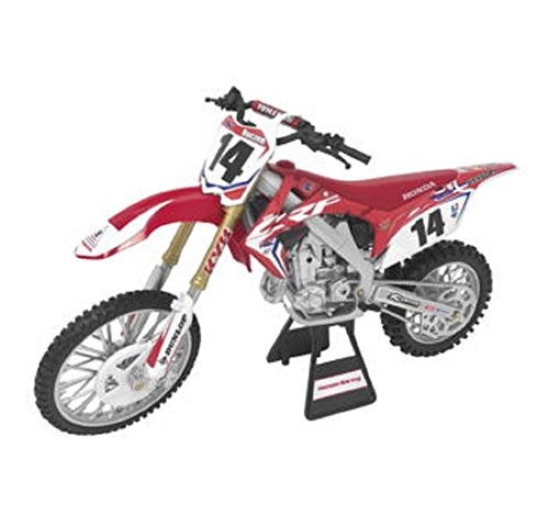 Orange Cycle Parts Die-Cast Replica Toy Red 1:12 Scale Model Cole Seely Team Honda HRC Seely Dirt Bike by NewRay 57933 ()