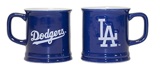 MLB Officially Licensed Sculpted 2 oz Mini Mug Shot Glass (Los Angeles (Los Angeles Dodgers Glass)