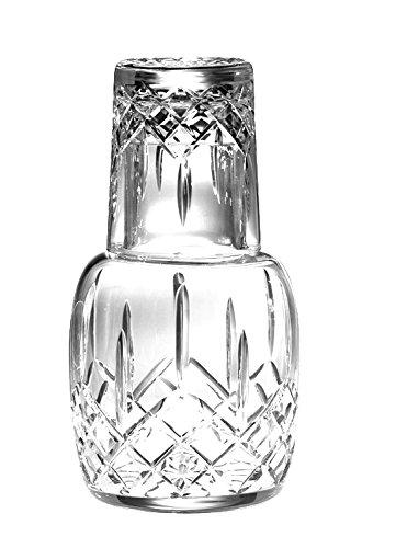 Barski - Mouth Blown - Hand Cut - Crystal - 2 Piece Set - 25 oz . Bedside Night Carafe / Desktop Carafe with Tumbler Glass - 8.25'' H - Made in Europe by Barski (Image #1)