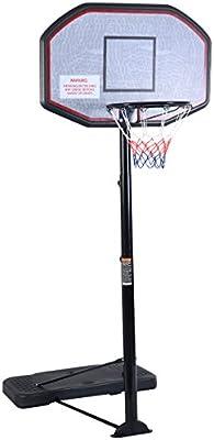 Aro de baloncesto de tamaño reglamentario con bolsas con pie ...