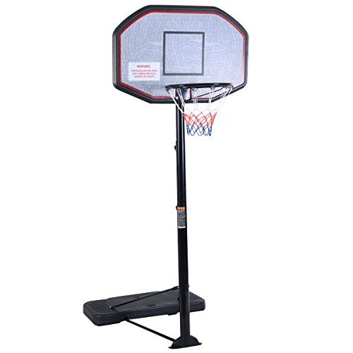 Giantex 10FT Portable Basketball Hoop Adjustable Height 43'' Backboard Indoor/ Outdoor
